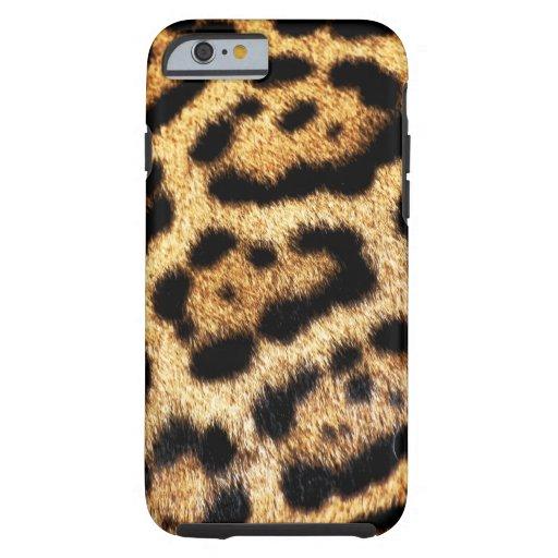 Leopard-Pelz-Blick Tough iPhone 6 Hülle