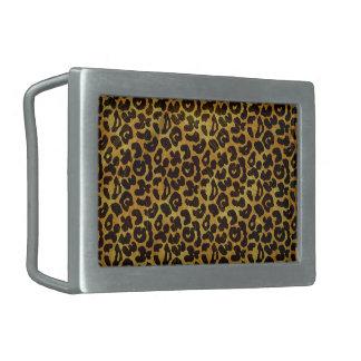 Leopard-Pelz-Druck-Tier-Muster Rechteckige Gürtelschnallen