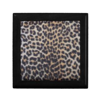 Leopard-Pelz Erinnerungskiste