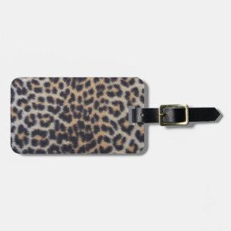Leopard-Pelz Kofferanhänger
