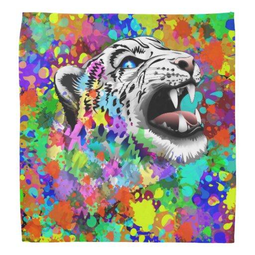 Leopard-psychedelische Farbe Splats Bandanas Kopftuch