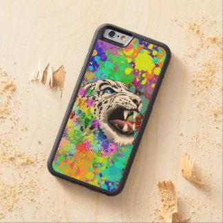 Leopard-psychedelische Farbe Splats Bumper iPhone 6 Hülle Ahorn