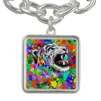 Leopard-psychedelische Farbe Splats Charm Armbänder