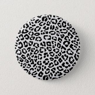 Leopard Runder Button 5,1 Cm