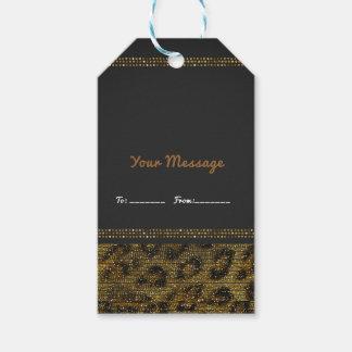 Leopard-Schein-Paillette-bezauberndes schickes Geschenkanhänger