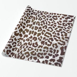 Leopard-Schokoladen-Druck Geschenkpapier