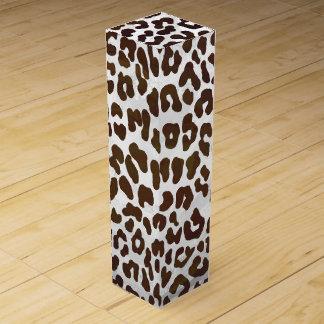Leopard-Schokoladen-Druck Wein-Geschenkverpackung