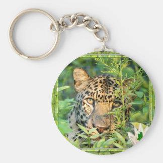 Leopard-St Patrick Keychain Standard Runder Schlüsselanhänger