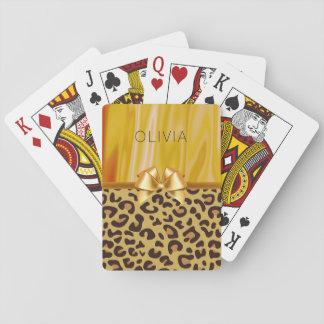 Leopard-Stellen-Tierdruck-Girly bezaubernder Spielkarten