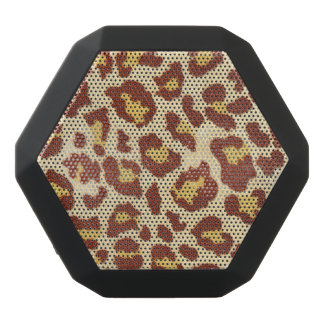 Leopard-Stellen Ultrasuede Blick Schwarze Bluetooth Lautsprecher
