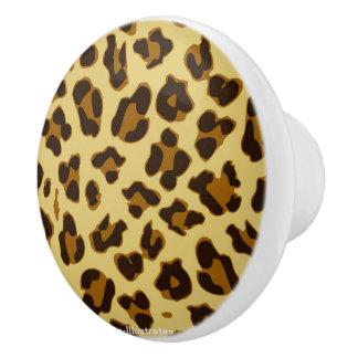 Leopard-Tierdruck-Muster-Türknauf Keramikknauf