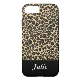 Leopard-tierischer mit Monogramm Fall iPhone 8/7 Hülle