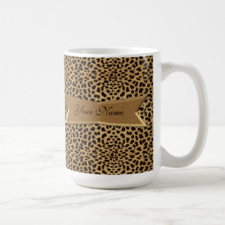 Leopard und Fahne Kaffeetasse