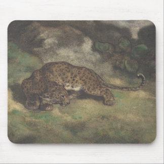 Leopard und Schlange Mousepad