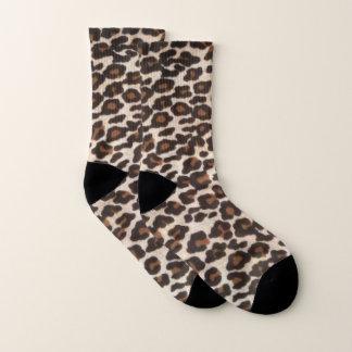Leopard-wilder Druck Socken