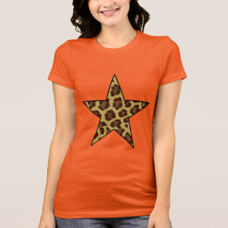 Leoparddruck-Sternt-shirt T-Shirt