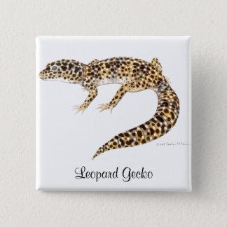 Leopardgecko-Button Quadratischer Button 5,1 Cm
