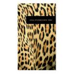Leopardhaut, Lebentier-Visitenkarten