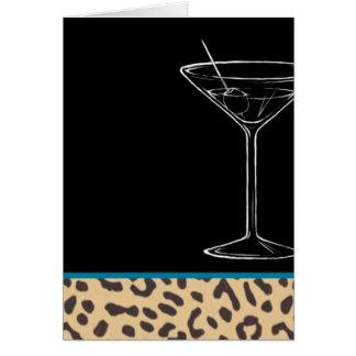 Leopardmartini-Geburtstag Karte