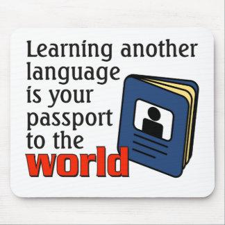 Lernen eines anderen Sprach… Passes zur Welt Mousepad