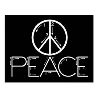 Lernen Sie Frieden Postkarte