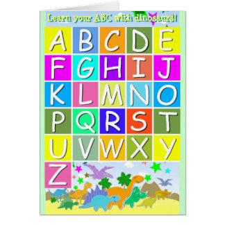 Lernen Sie Ihr ABC mit Dinosaurier-Buchstaben A-Z Karte