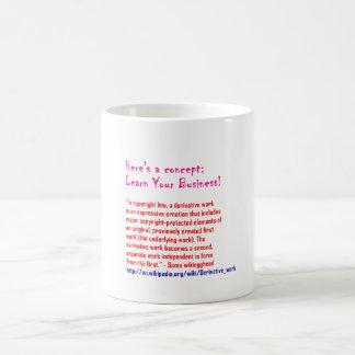Lernen Sie Ihr Geschäft Kaffeetasse