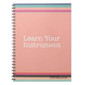 Lernen Sie Ihr Instrument-Notizbuch Spiral Notizblock