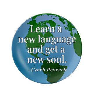 Lernen Sie neues SprachSoul Zitat. Kugel Teller