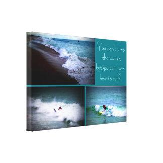Lernen Sie, Wandbehang zu surfen Leinwanddruck