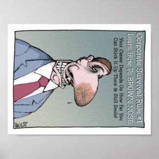 Lernen Sie wie zu Brown-Nase Poster