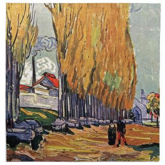 Les Alyscamps durch Van Gogh. Herbstlandschaft Stoffserviette