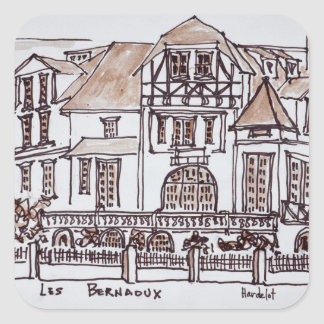 Les Bernaoux   Neufchatel Hardelot, Frankreich Quadratischer Aufkleber