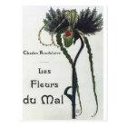 Les Fleur du Mal - Baudelaire Postkarte
