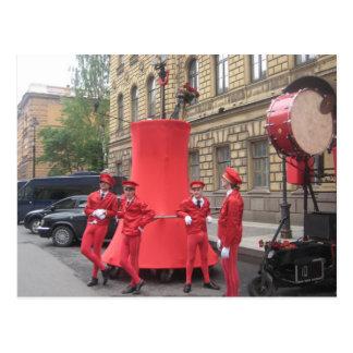 Les hommes Rouges Postkarten