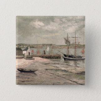 Les Huitrieres, La Trinite-Sur-MER, Morbihan, 1912 Quadratischer Button 5,1 Cm