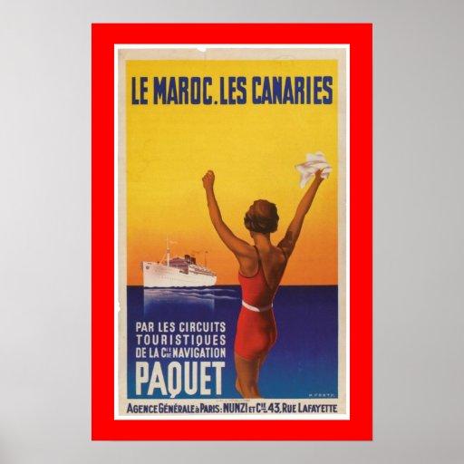 Les Maroc, Les Canaries - Paquet Posterdruck