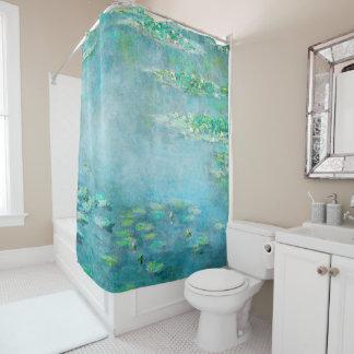 Les Nympheas Wasser-Lilien-schöne Kunst Duschvorhang