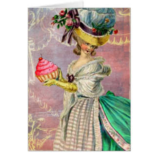 Les Petits Gateaux Marie Antoinette kleiner Kuchen Karte
