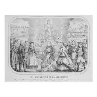 Les Splendeurs de la Republique', 1872 Postkarte