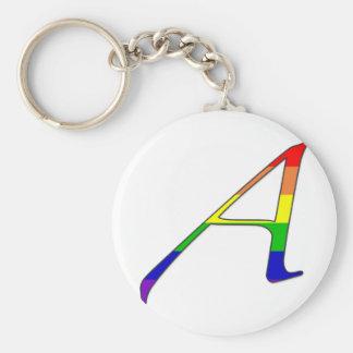 """Lesbe und Gay Pride""""Scarlet-"""" Buchstabe A Standard Runder Schlüsselanhänger"""