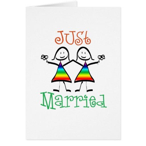 Lesben-gerade verheiratete Karte