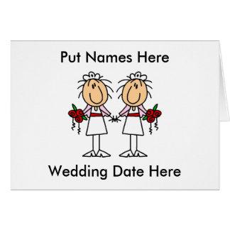 Lesbische besonders anzufertigen Heirat Karten