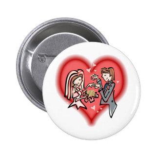Lesbische Braut u. Bräutigam Button
