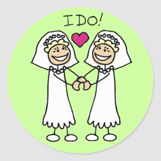 Lesbische Gastgeschenke Hochzeit Aufkleber