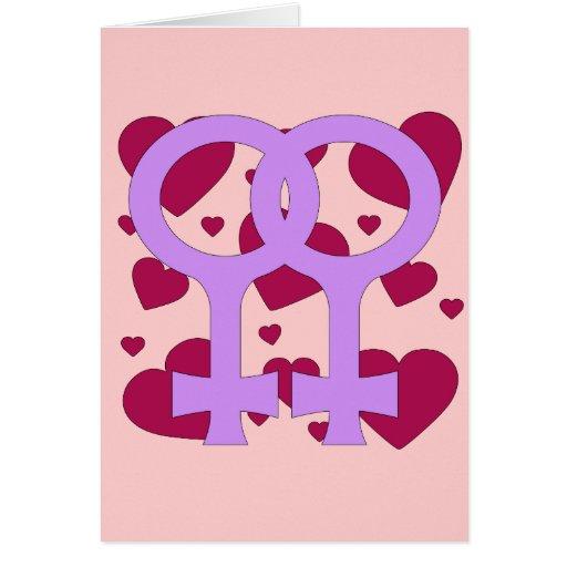Lesbische Heirat-Herzen Karten