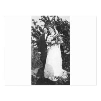 Lesbische Hochzeit circa 1920 Postkarte
