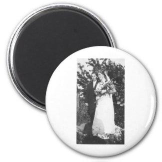 Lesbische Hochzeit circa 1920 Runder Magnet 5,7 Cm