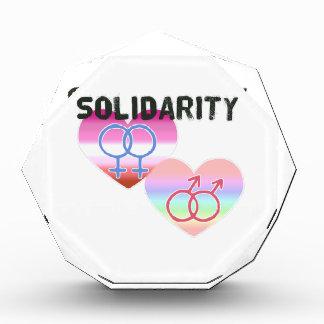 Lesbische homosexuelle solidarität auszeichnung