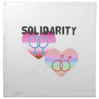 Lesbische homosexuelle solidarität stoffserviette